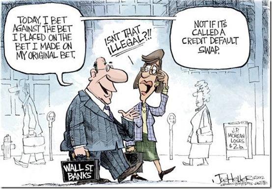 Credit default swap, scommesse sul fallimento di Stati e/o società.