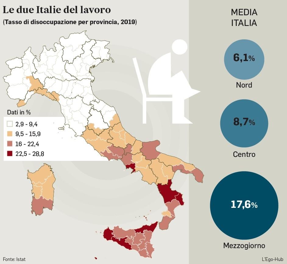 Cartina Italia Nord Sud Est Ovest.Per Unificare L Italia Bisogna Differenziare I Salari