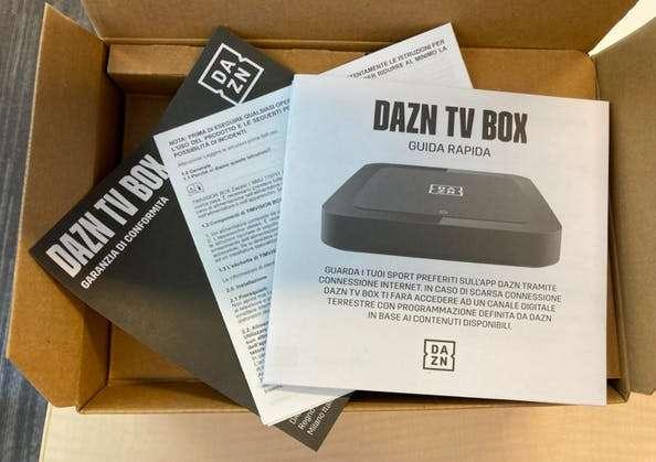 dazn tv box come funziona